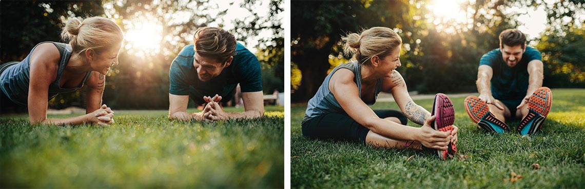 träning inför bröllopet