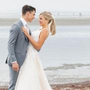 bröllopsklänningen i fokus