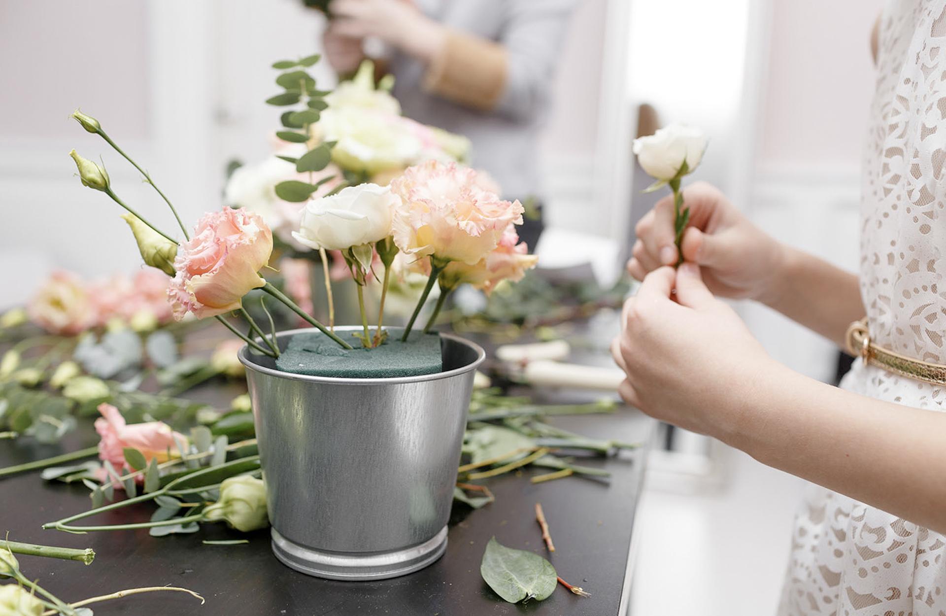 blommor till bröllopet