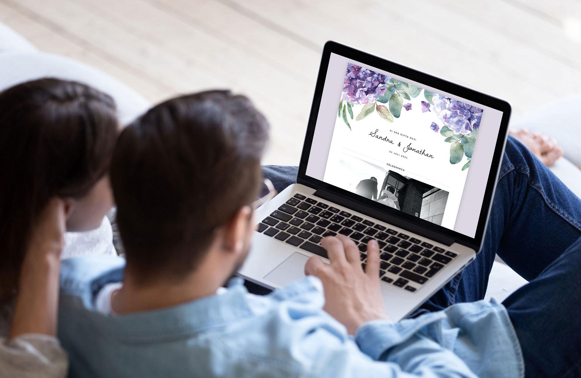 Min bröllopssajt - dator