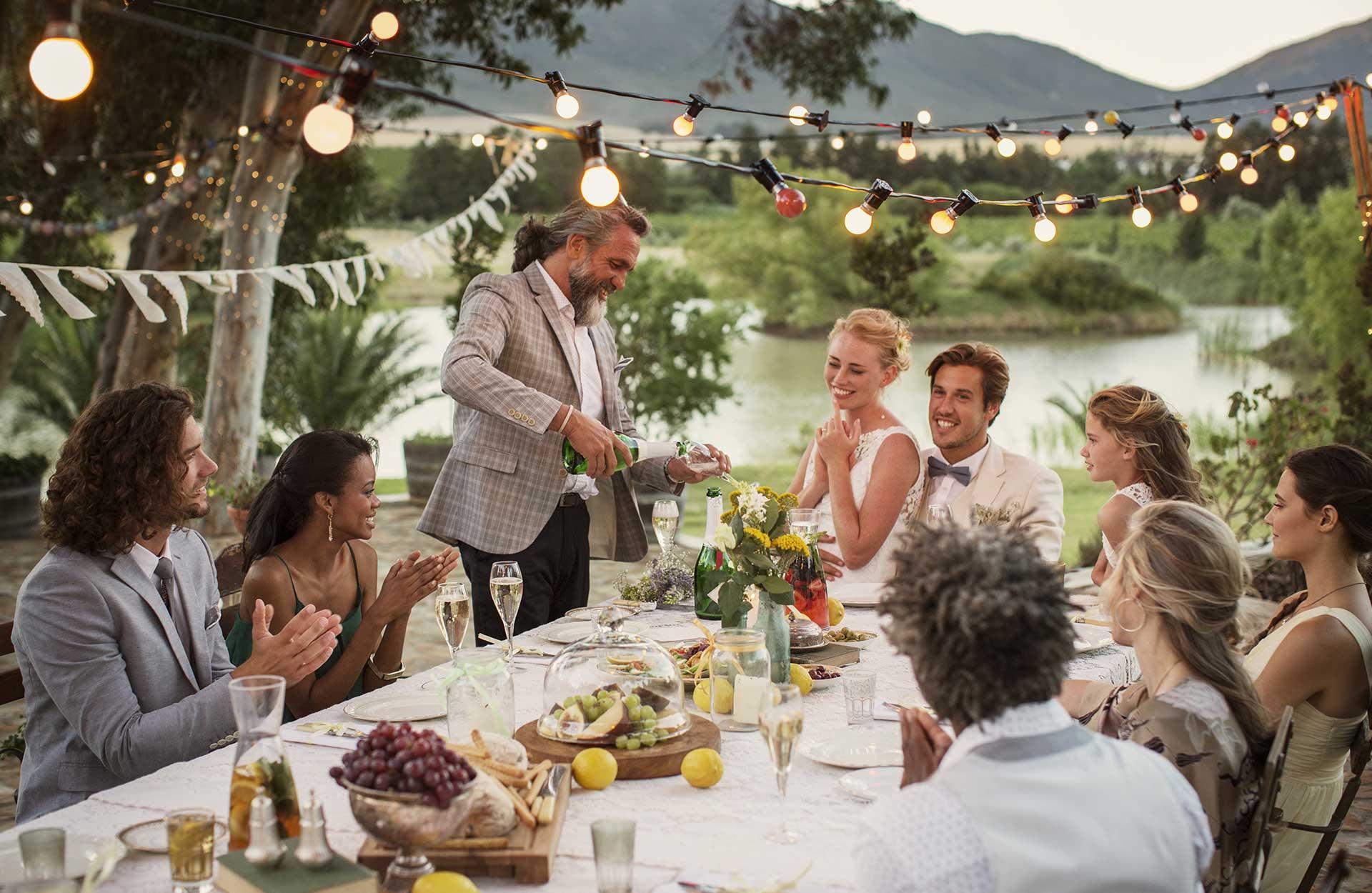 bröllopsfest utomhus